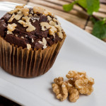 Muffin de Cacau e Nozes - Vegetariano