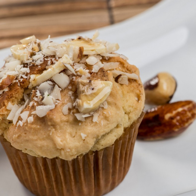 Muffin de Banana e Castanha-do-Pará - Vegetariano