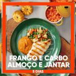 Frango e Carbo - Almoço e Jantar 5 dias (10 Refeições = R$14.90 média por Refeição)
