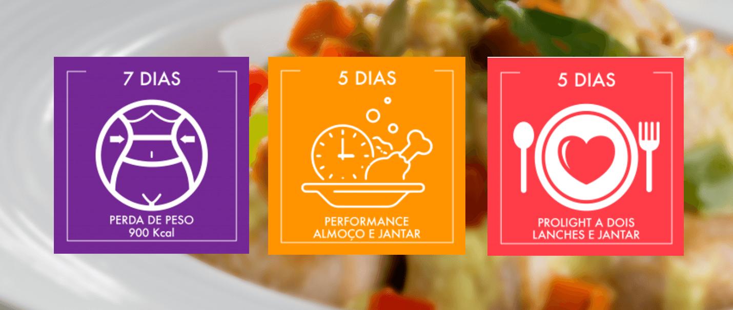 Programas ProLight - Perda de Peso, Performance Almoço e Jantar e ProLight a Dois (Lanches e Jantares)